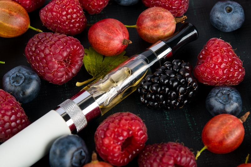 vape pen with sweet fruit